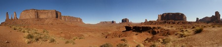 three sisters: Panorama from Butte Three Sisters of John Ford point