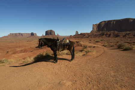 plateau point: John Ford Point Tourism for the natives of the horse Stock Photo