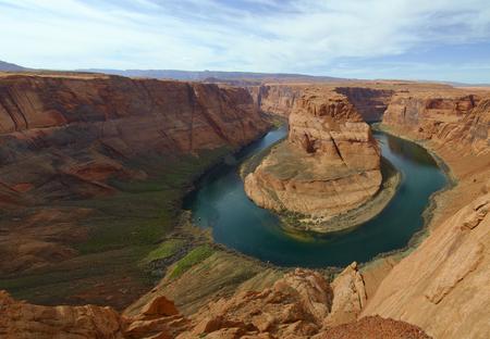 colorado river: Attractions Horseshoe vent of Colorado River horseshoe Stock Photo
