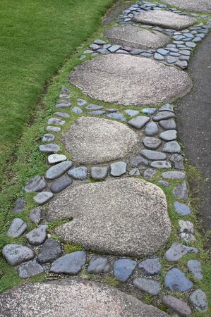 stepping stone: Stepping stone pattern is beautiful garden