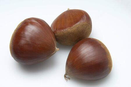 Real three up of chestnuts