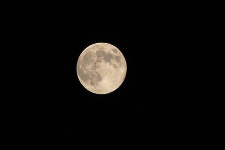 十五夜の月 写真素材