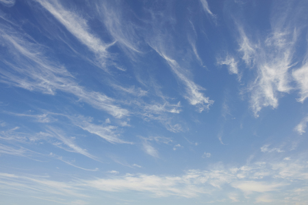 cirrus: Streaky appeared was cirrus Stock Photo