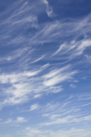 cirrus: Cirrus clouds flowing neatly into streaky Stock Photo