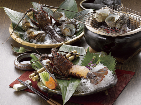fishery products: Ise shrimp and turban shell