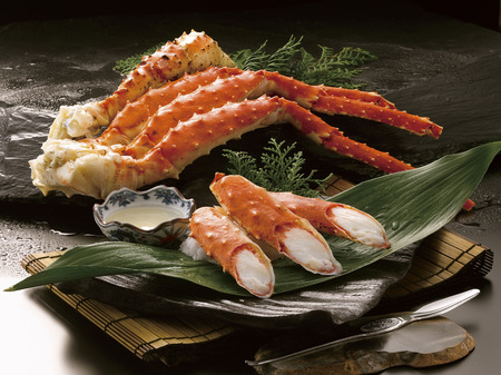 King crab legs Stok Fotoğraf
