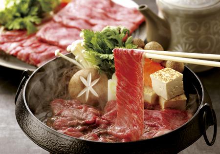 prefecture: Kagoshima Prefecture Japanese beef sukiyaki Stock Photo