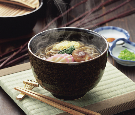 そば麺 写真素材