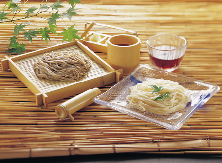 buckwheat noodle: Soba and udon Inaniwa