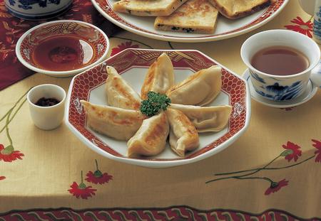 baked: Baked dumplings Stock Photo