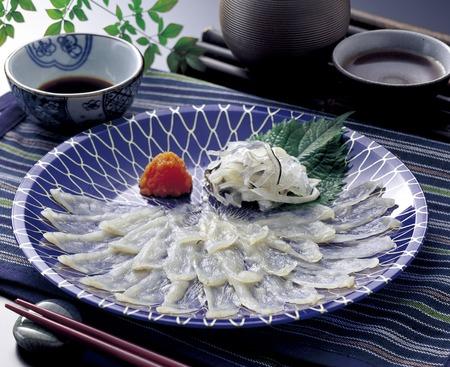 Fugu sashimi 版權商用圖片