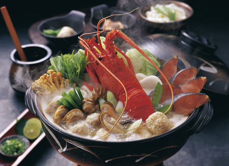 lobster pot: Lobster seafood pot