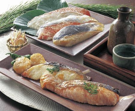 king salmon: Kasuzuke of seafood Stock Photo