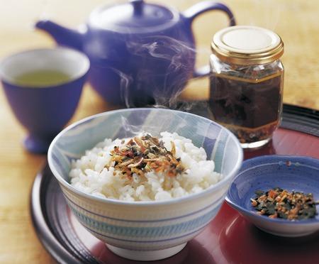 Rice sprinkled