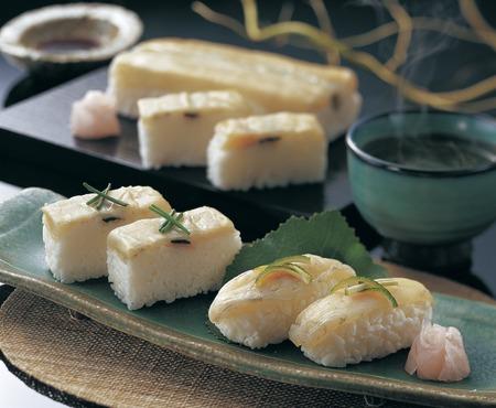 pez globo: Sushi Blowfish Foto de archivo