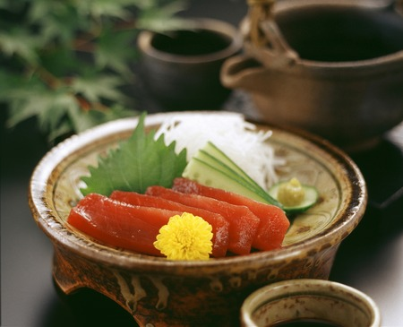 rawness: Tuna red sashimi Stock Photo