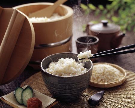 hnědá rýže Reklamní fotografie