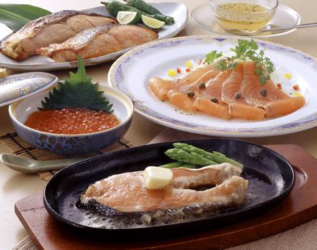 king salmon: Salmon dish