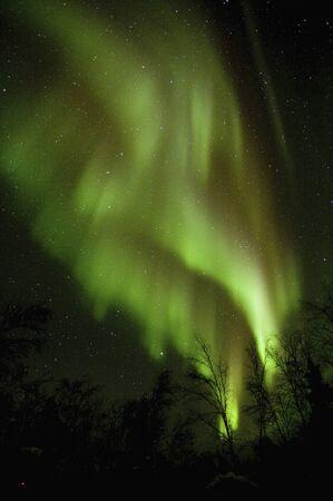 the natural phenomena: Canada, Yellowknife Aurora Stock Photo