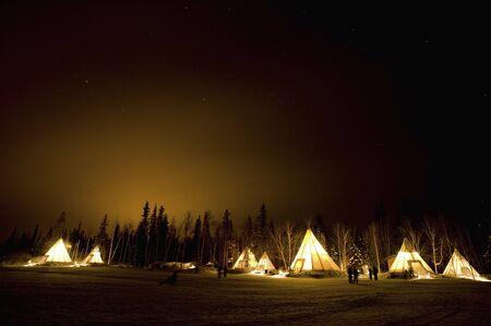aurora: Aurora Village tent