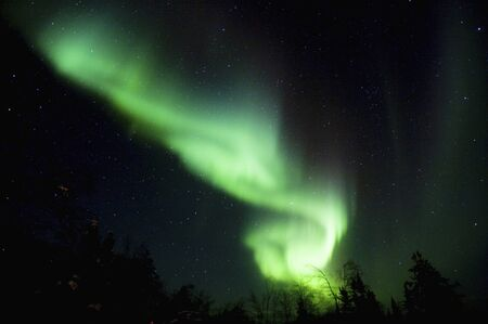 auroral: Canada, Yellowknife Aurora Stock Photo