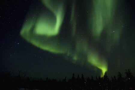 firmament: Canada, Yellowknife Aurora Stock Photo