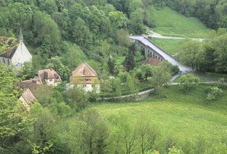 settlements: Rural settlements Stock Photo