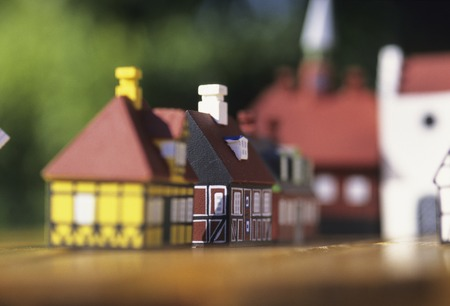scaled down: Town of toys Stock Photo