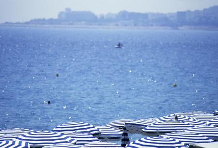 radiancy: Blue sea and beach umbrellas