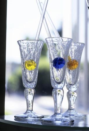 coolness: Glass Stock Photo