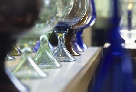 blown: Glass of blown glass