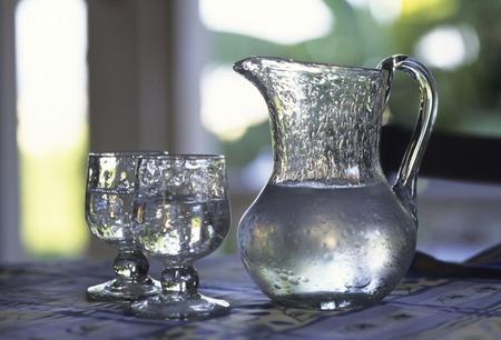 blown: Blown glass pitcher