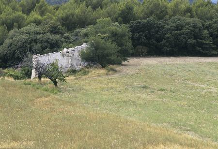 deserted: Deserted house of grassland Stock Photo