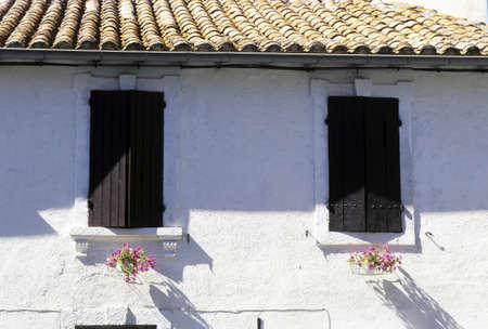 french doors: Two Windows Stock Photo
