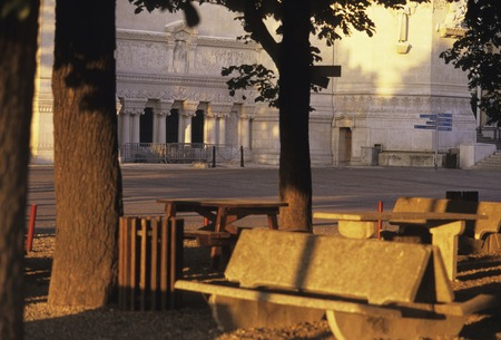 fool: Bench ma�ana Fool Vie Yale Square Foto de archivo