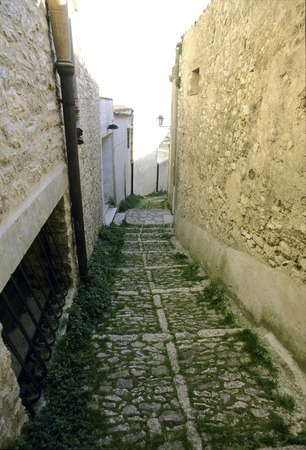 alley: Cobbled alley