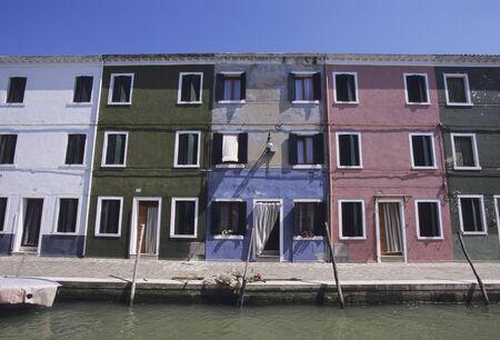 waterways: Colorful apartment and waterways