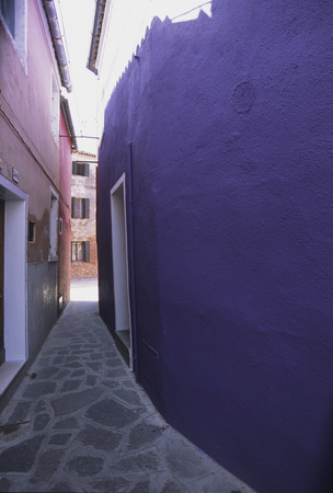 alley: Alley of purple Stock Photo
