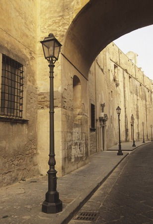 street corner: Streetlight street corner