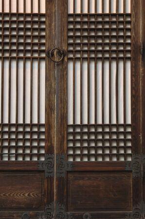 korean style house: Traditional architecture of Korea Stock Photo
