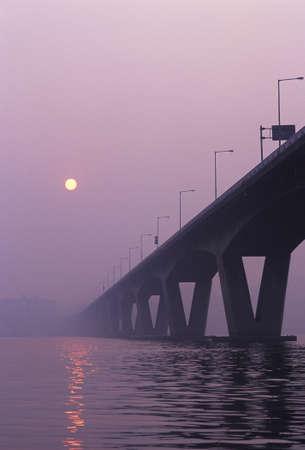 hazy: Sun hazy and bridge