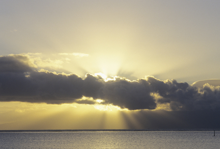 shaft: Clouds and shaft of light