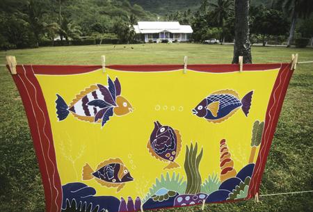 pareo: Pareo fish pattern Stock Photo