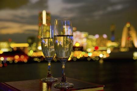 夜景とガラス
