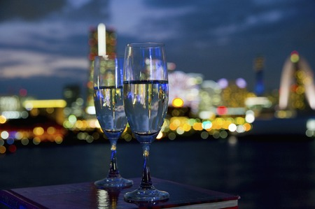 night views: Night view and Glass Stock Photo