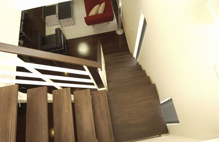 architecture detached house: Stairs Stock Photo