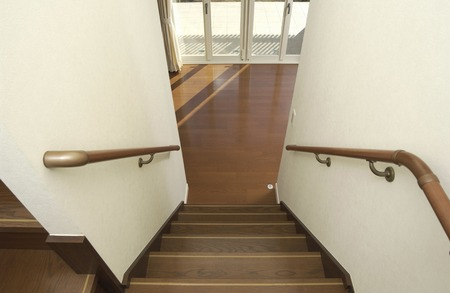 a detached living room: Stairs Stock Photo