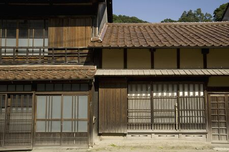 townhouses: Omorimachi of townhouses Stock Photo