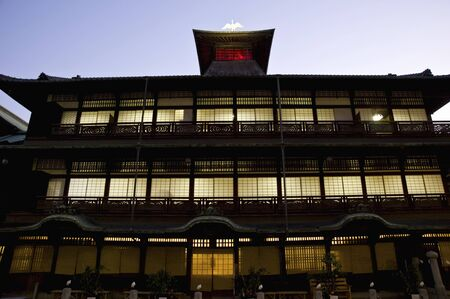 onsen: Dogo Onsen Honkan night