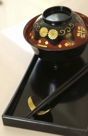 lacquerware: Lacquerware and chopsticks